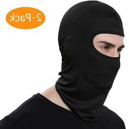 2 Pack Men Balaclava Black Face Mask Lightweight Motorcycle