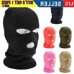 #3 Hole Full Face Mask Ski Mask Winter Cap Balaclava Beanie