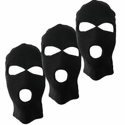 3 PACK Winter Face Mask Balaclava 3-Hole Full Face Tactical