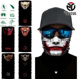 3D Vampire Clown Joker Skull Neck Scarf Face Mask Balaclava