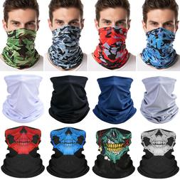 4 Pack Biker Tube Bandana Face Scarf Neck Gaiter Headband Ma