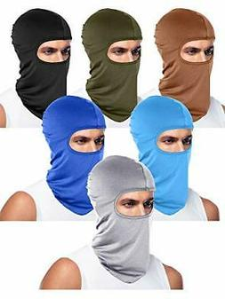 6 Pieces Unisex Balaclava Full Face Mask Winter Windproof Sk