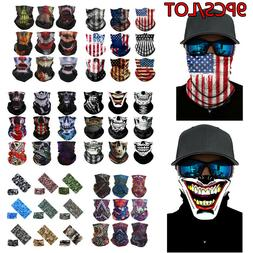 9 PACK Face Neck Gaiter Balaclava Bandana Scarf Fishing Sun