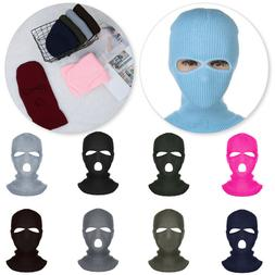 Army Tactical Mask 3 Hole Full Face Mask Ski Cover Winter Ca