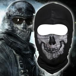 Cosplay COD Ghost Fabric Face Mask Helmet Outdoor Tactical A