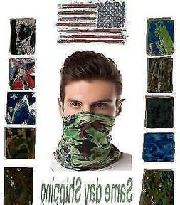 Elastic Silky Face Mask Cover Multi-Use Tube Bandana Neck Ga