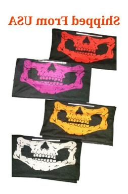 Ghost Skull Face Mask 4pack with 4x FILTER Biker GANGSTA Bal