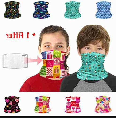 kids neck gaiter bandana face mask tube