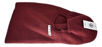 mens maroon serge balaclava mask new has