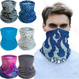 Neck Gaiter Bandana Half Face Mask Headband Ice Silk Face Co