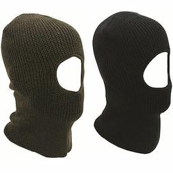 Open Face Knitted One Hole Balaclava Great For Skiing, Cycli