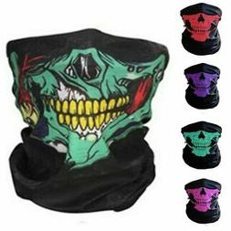 Skull Balaclava Bandana Bikers Neck Tube Face Mask Warmer Sc