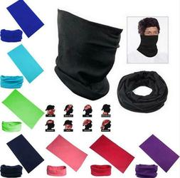 Solid Color Balaclava Face Mask Gaiter Neck Biker Bandana Wi
