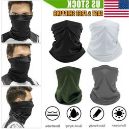 Sun UV Protection Neck Gaiter Face Mask Tube Cooling Scarf B