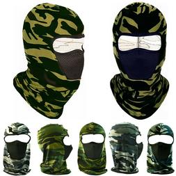 Winter Face Mask Hat 1 Hole Balaclava Tactical Camo Motorcyc