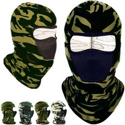 Face Mask Hat One Hole Balaclava Hood Tactical Camo Full Mou